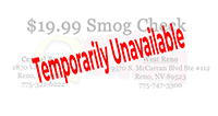 Smog Check Coupon in Reno/Sparks